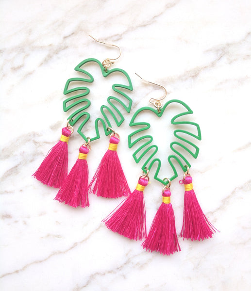 Tropical Palm Earrings