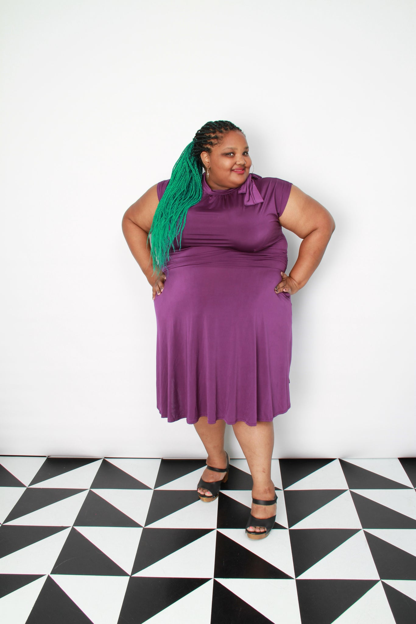 Plum Bombshell Dress