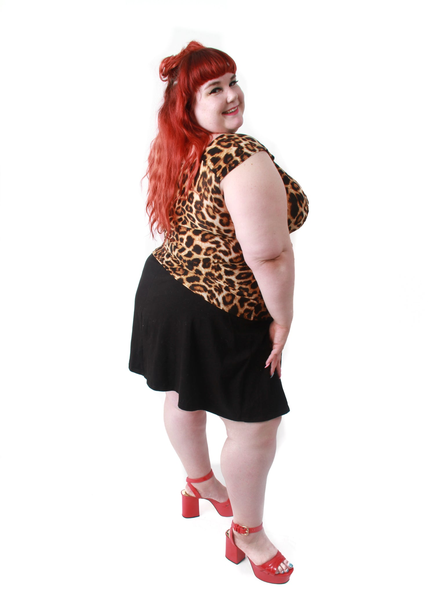 Leopard Isabel Top