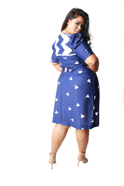 VINTAGE Navy Nautical Dress