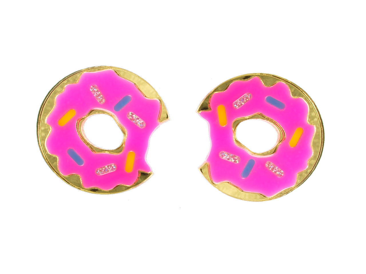 Vinca - Extra Large Donut Earrings