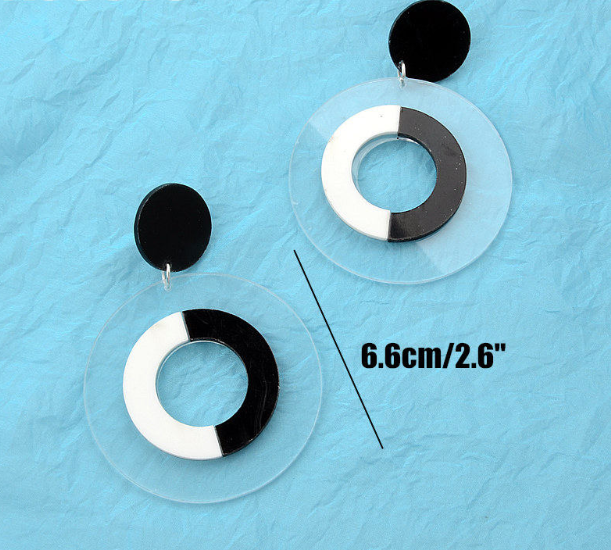 Black & White Mod Earrings