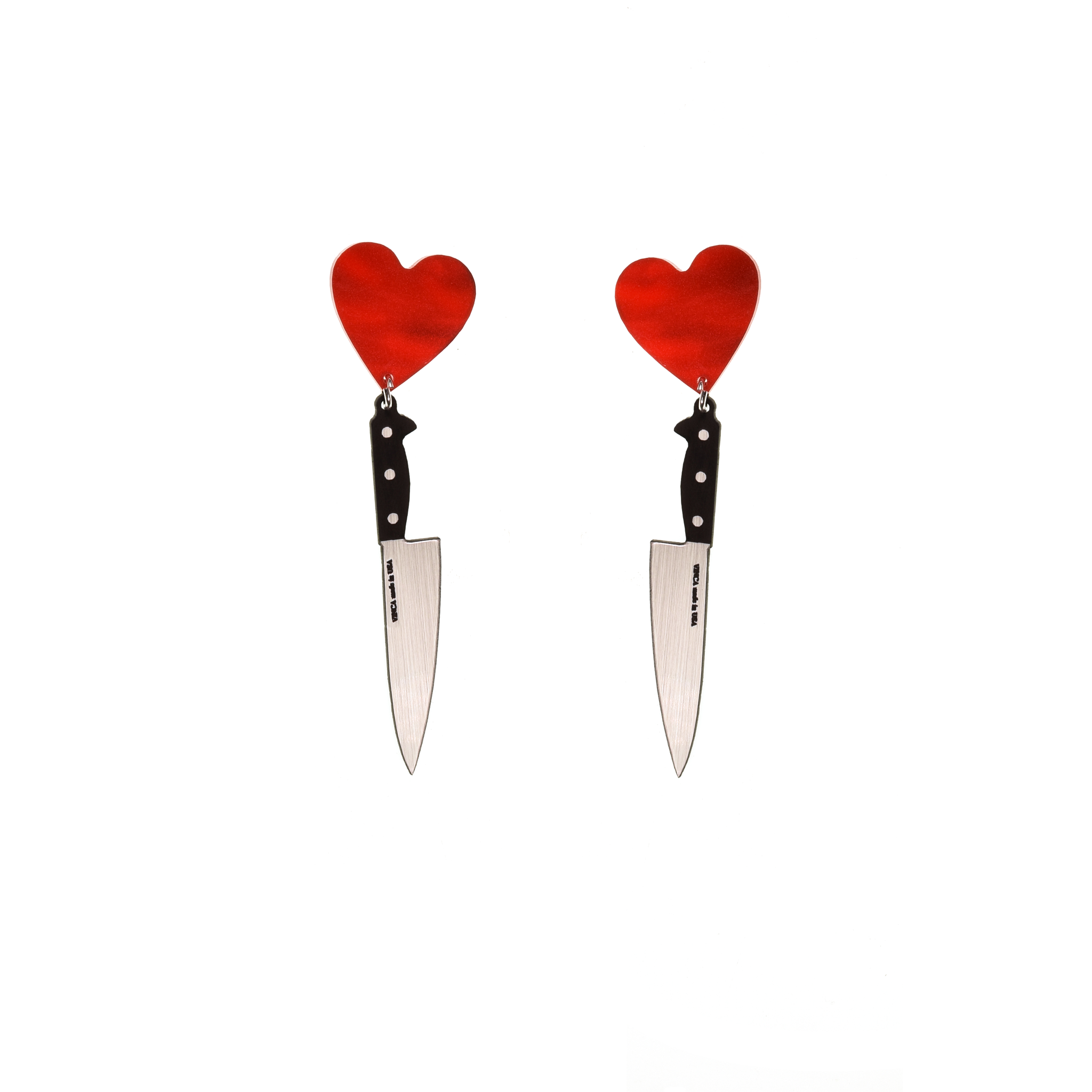 Vinca - I Heart Knives Earrings in SASSY
