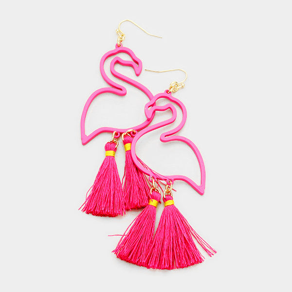 Flirty Flamingo Earrings