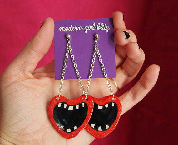Screaming Valentine Earrings