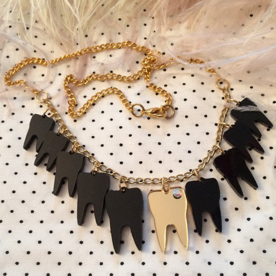 Black Sweet Tooth Necklace