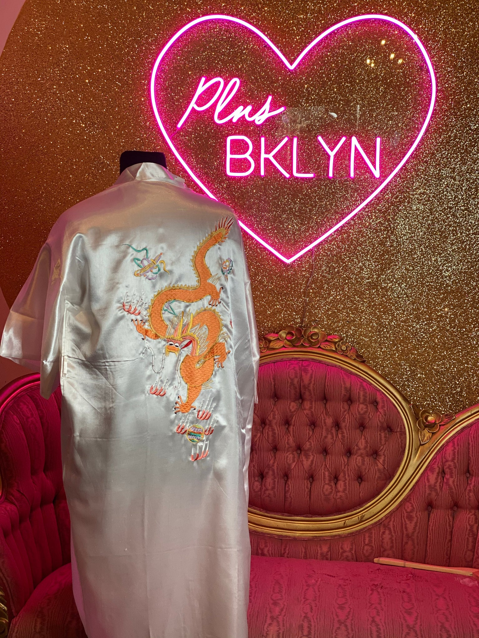 White Silky Dragon Robe