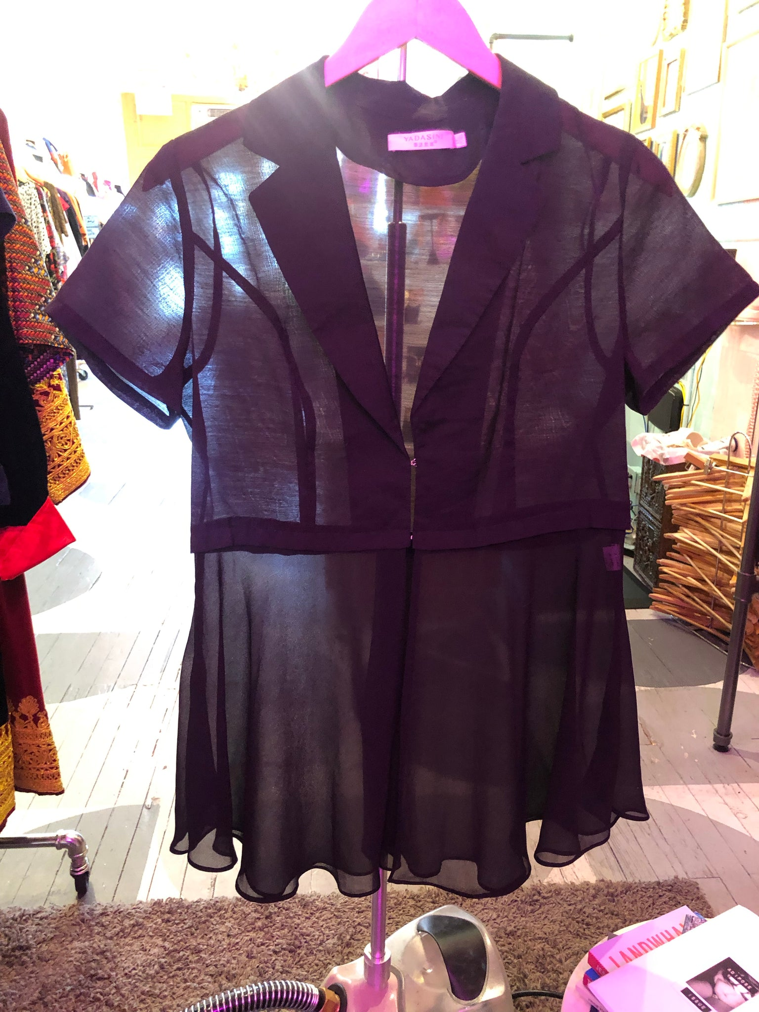 RESALE - Yadasini Black Sheer Top
