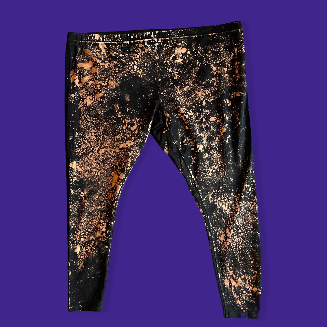 Black Acid Washed Leggings
