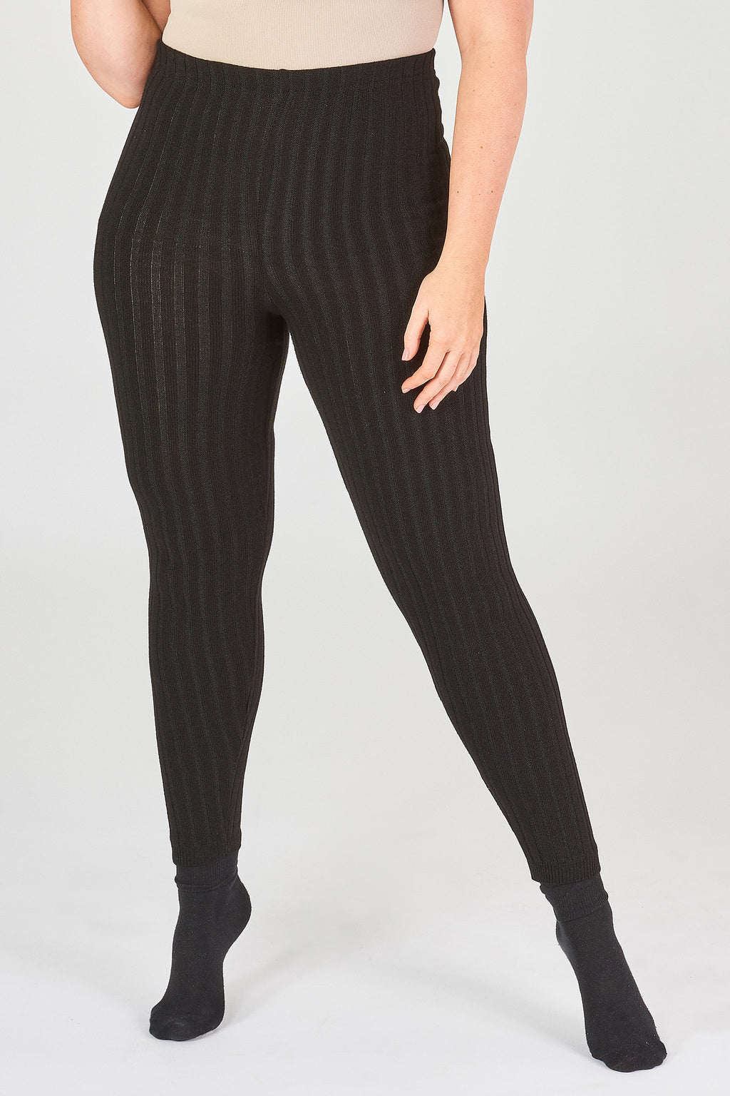 Knitted Rib Leggings