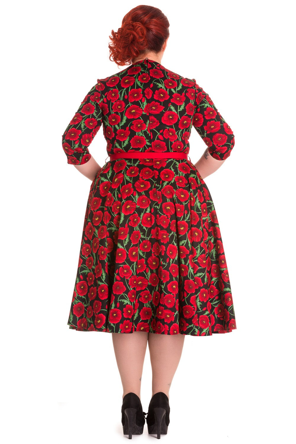 Black Poppy 50s Dress