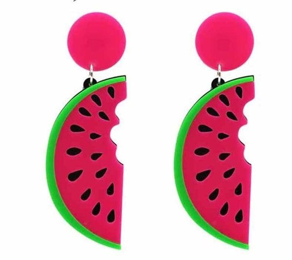 Take a Bite Watermelon Earrings