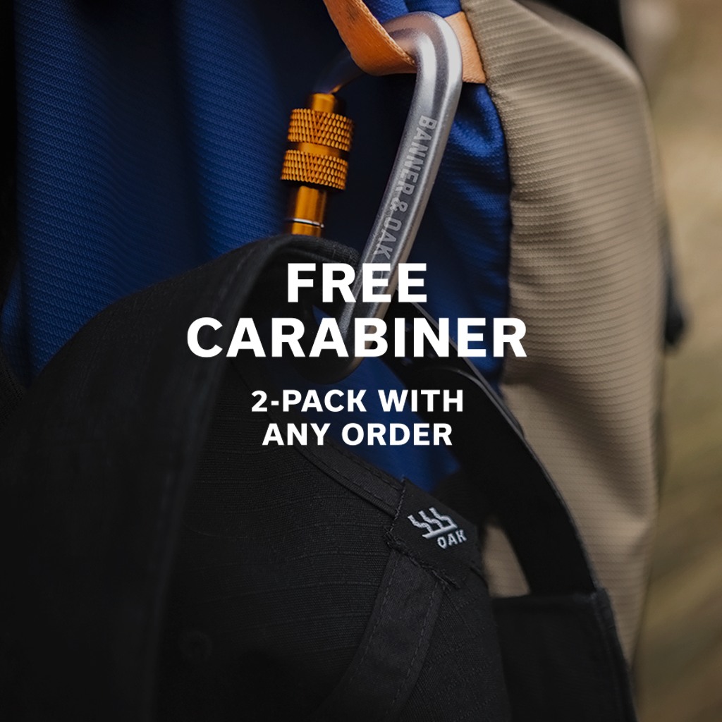Get Your Free Carabiner 2-Pack with any Order This Weekend
