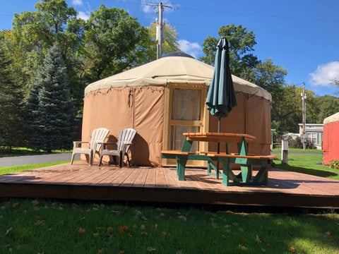 yurt on a sunny day