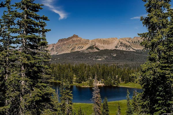 Camping in Uinta Mountains, Utah