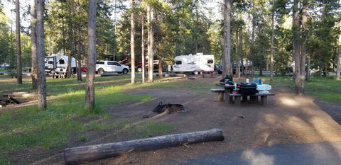 Campground panorama form Madison Campground in Yellowstone National Park.