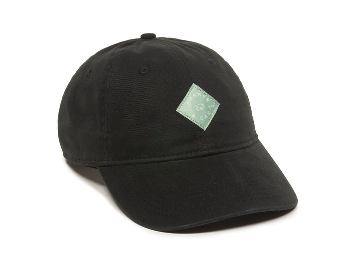 Trek Woven Label Patch Ladies Fit Cap Black Front Left View