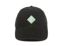 Trek Woven Label Patch Ladies Fit Cap Black Front View