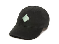 Trek Woven Label Patch Ladies Fit Cap Black Front Right View