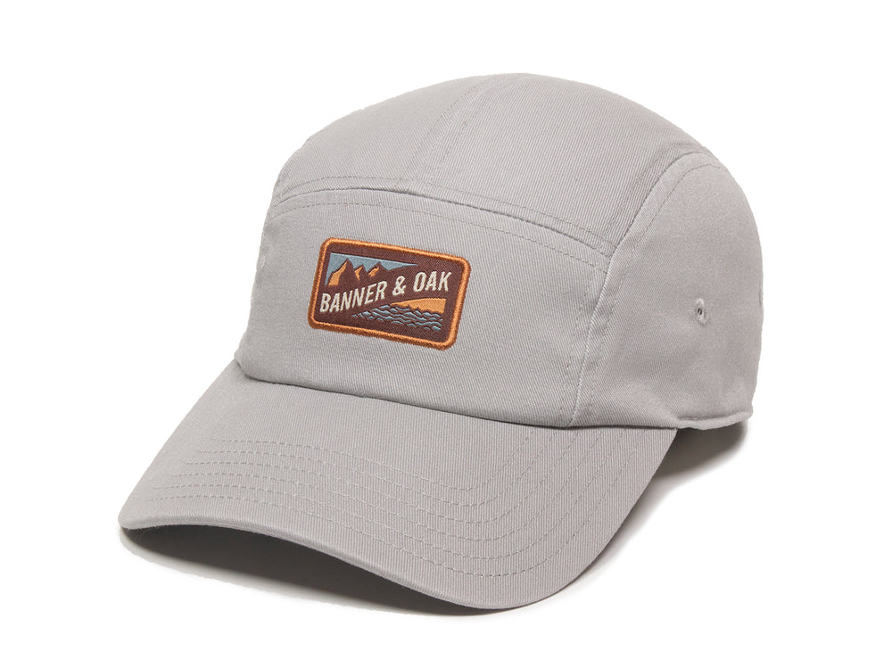 Bankside Scout Patch Ladies Fit Cap Gray Front Right View