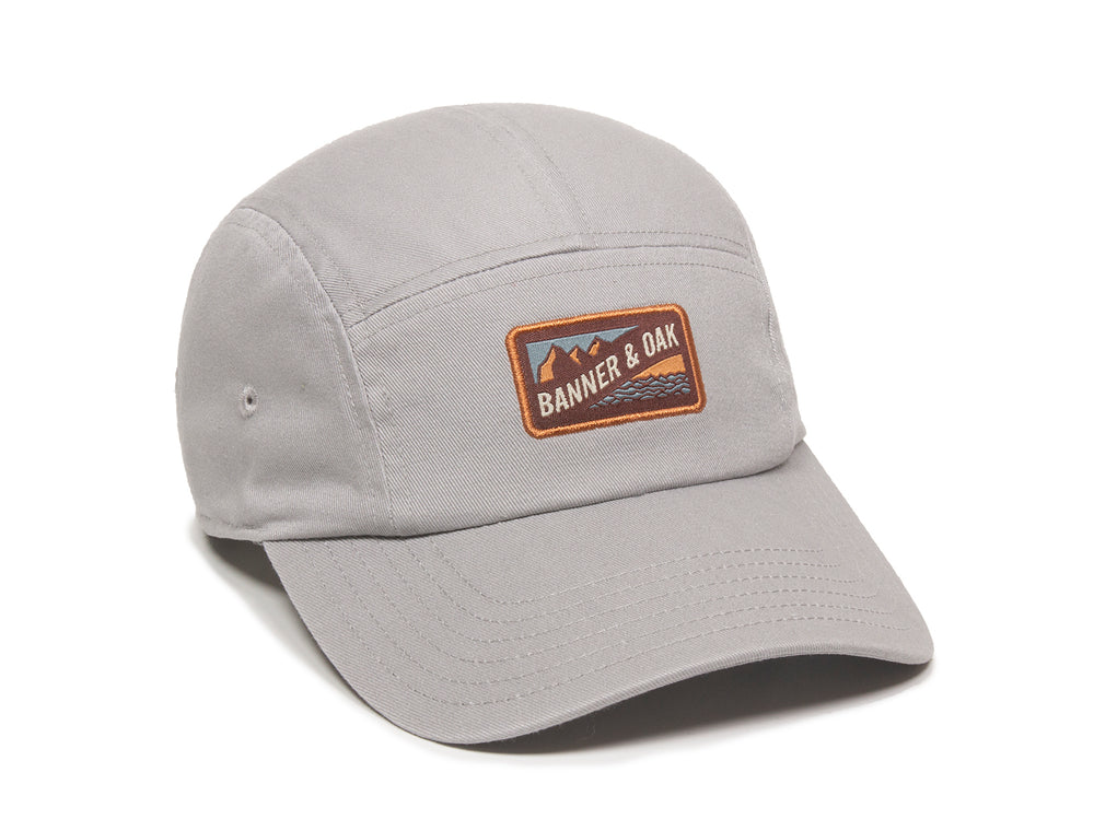 Bankside Scout Patch Ladies Fit Cap Gray Front Left View