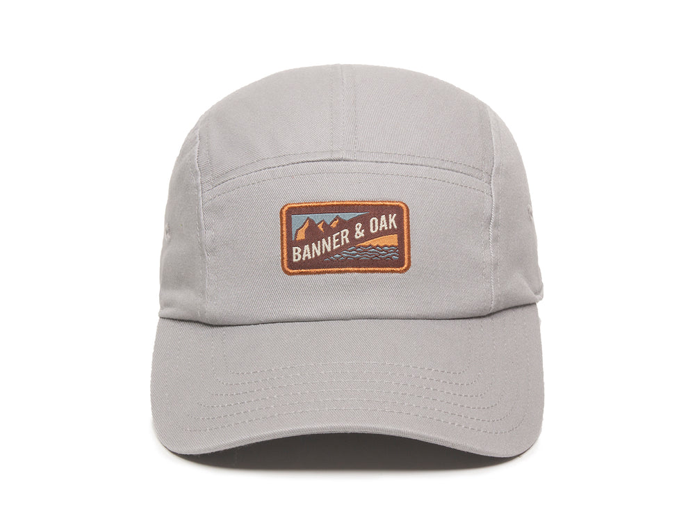 Bankside Scout Patch Ladies Fit Cap Gray Front View