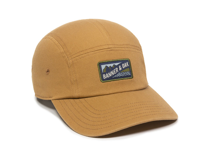 Bankside Scout Patch Ladies Fit Cap Tan Front Left View