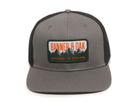 Bighorn Scout Patch Snapback Trucker Hat Charcoal Front View