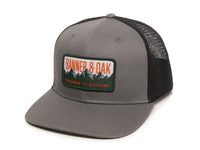 Bighorn Scout Patch Snapback Trucker Hat Charcoal Front Right View