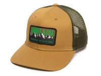 Bighorn Scout Patch Snapback Trucker Hat Khaki Front Right View