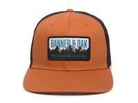 Bighorn Scout Patch Snapback Trucker Hat Orange Front View