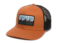 Bighorn Scout Patch Snapback Trucker Hat Orange Front Right View