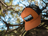 Bighorn Scout Patch Snapback Trucker Hat Orange Lifestyle Image