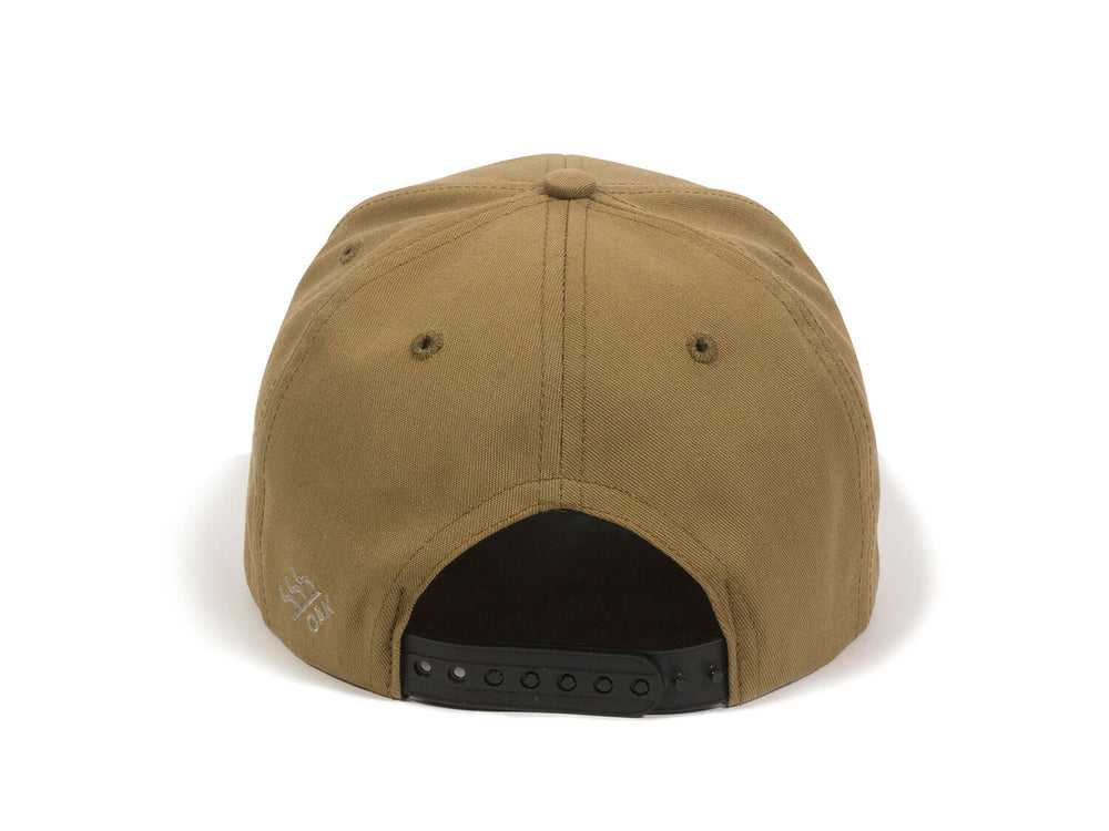 Bull USA Embroidered Snapback Cap Tan Back View
