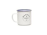 Enamel Camper Mug White Front Left View