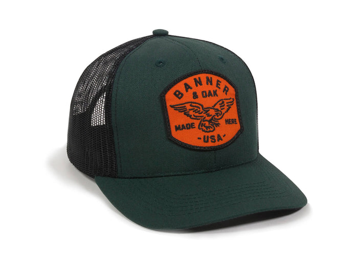 Eagle Scout Patch Snapback Trucker Hat Spruce Green