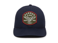 Eagle Scout Patch Snapback Cap Navy Blue Front View