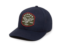 Eagle Scout Patch Snapback Cap Navy Blue Front Right View