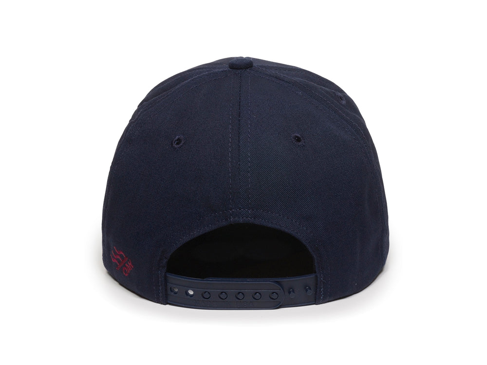 Eagle Scout Patch Snapback Cap Navy Blue Back View