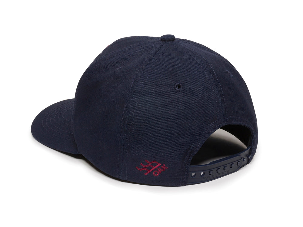 Eagle Scout Patch Snapback Cap Navy Blue Logo Side Hit