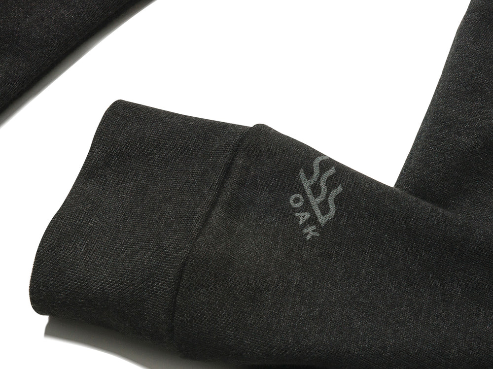 Freedom Hoodie Heathered Black Hooded Sweatshirt Sleeve Logo View