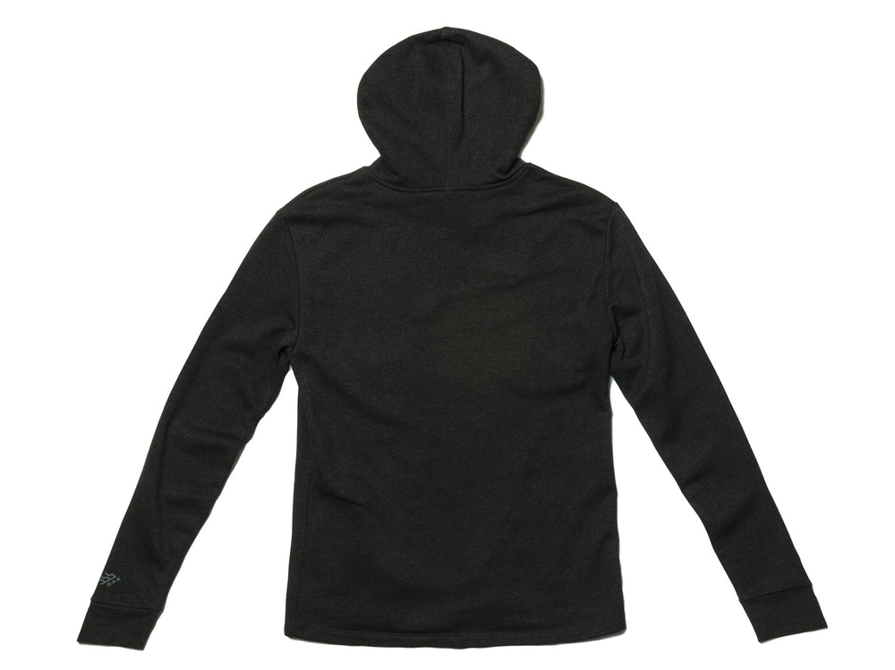 Freedom Hoodie Heathered Black Hooded Sweatshirt Back View