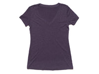 Crescent V-Neck Women's T-Shirt Purple Front View