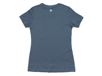 Coyote Crewneck Women's T-Shirt Indigo Gray