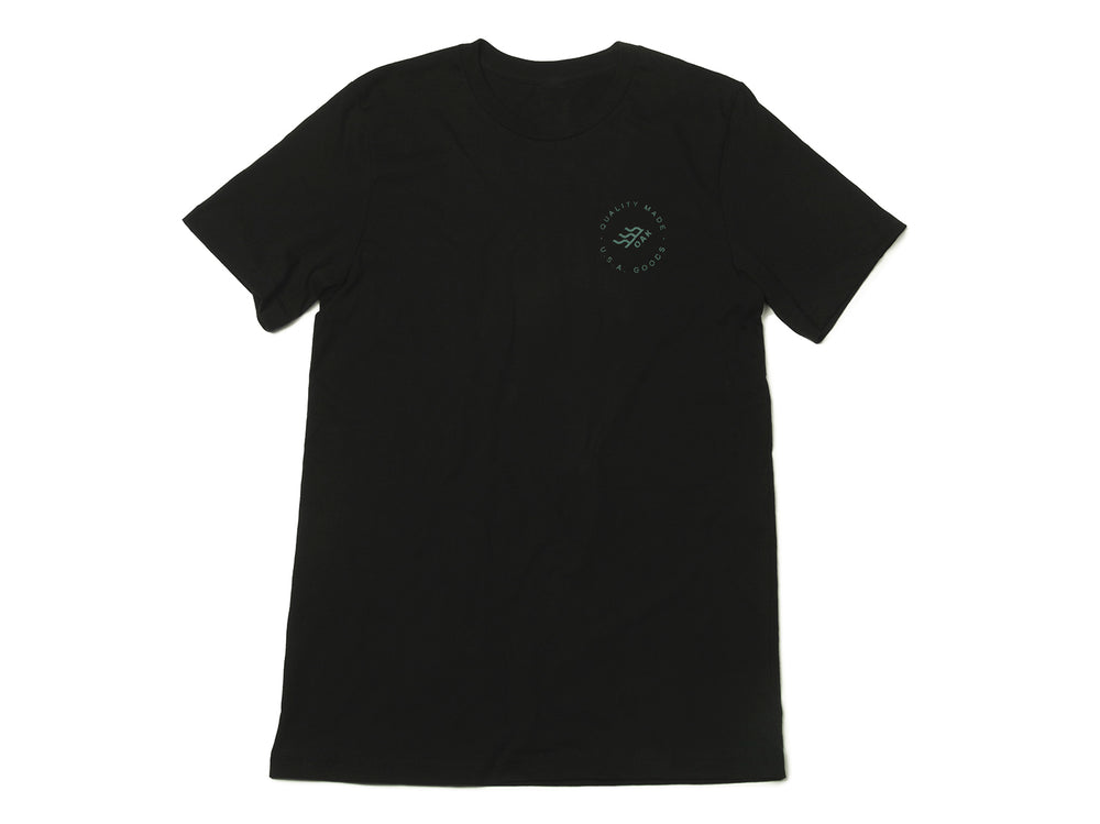 Grit Crewneck T-Shirt Black Front View