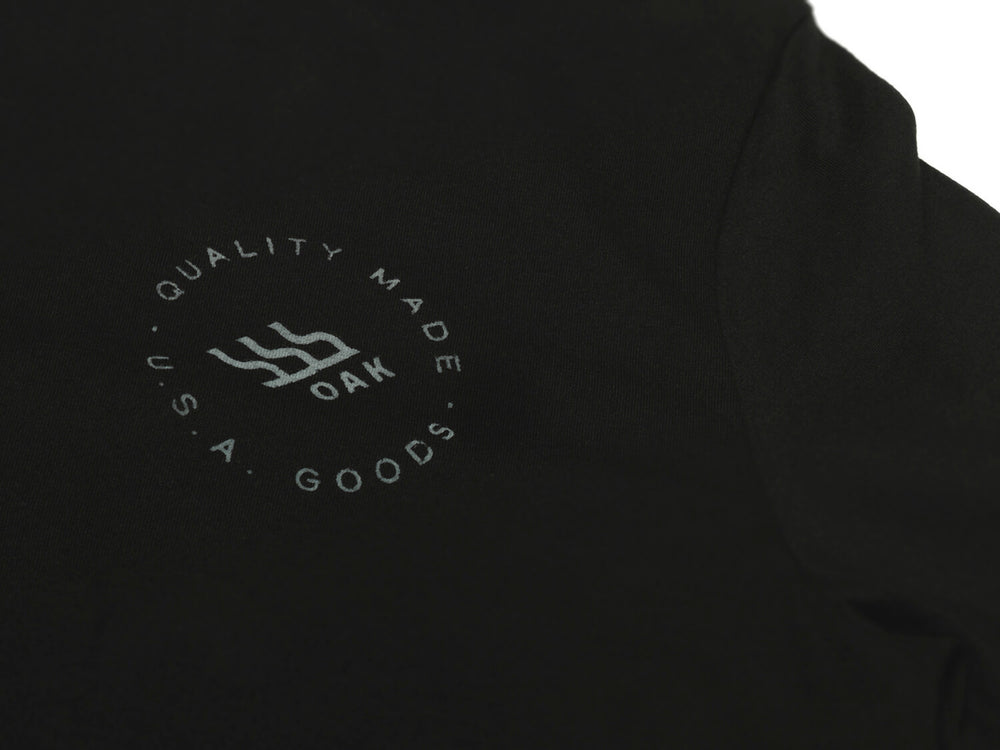 Grit Crewneck T-Shirt Black Left Chest View