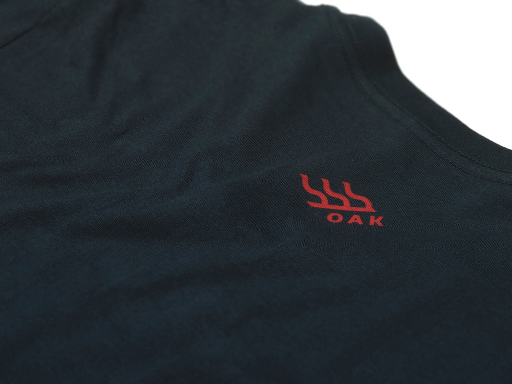 Patriot Crewneck T-Shirt Navy Blue Back Neckline View
