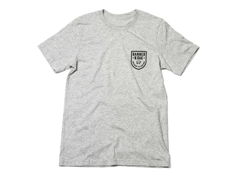 Patriot Crewneck T-Shirt Heather Gray Front View