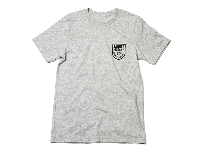 Patriot Crewneck T-Shirt Heather Gray