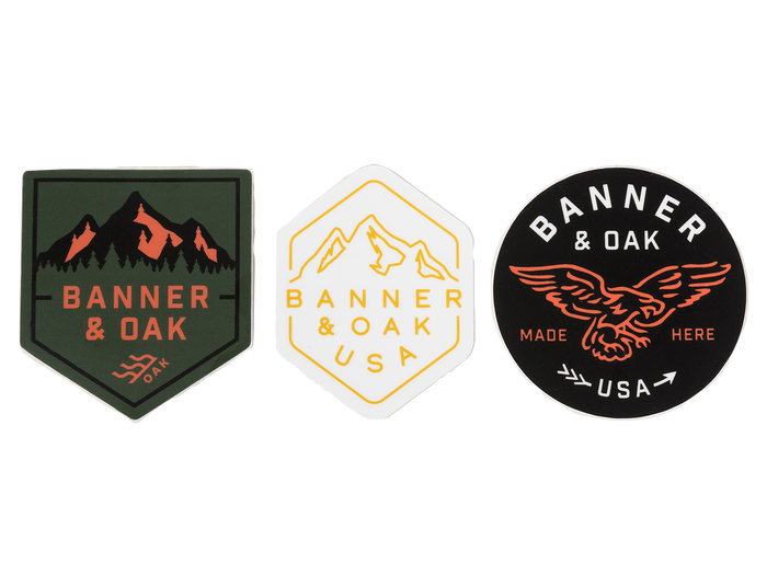 Banner Vinyl Sticker Pack Set of 3